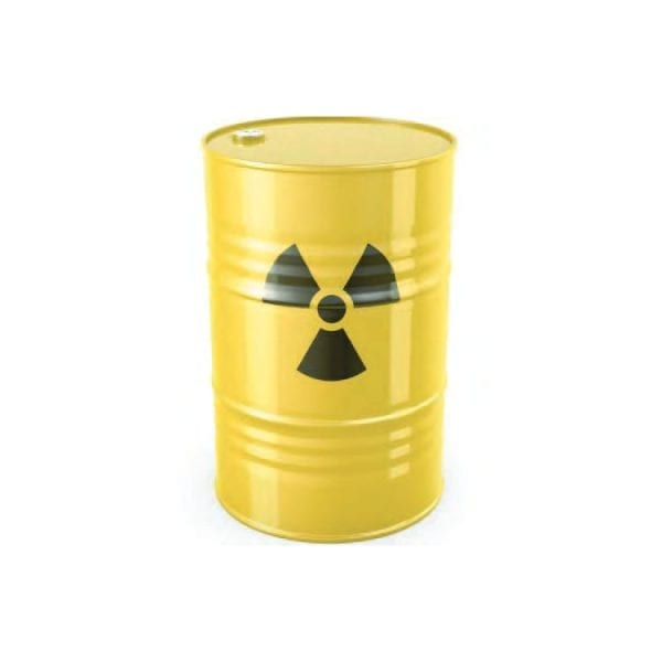 RADIOACTIVE SHIELDED CONTAINERS WITH RADIOACTIVE SYMBOL 1